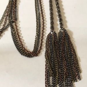 Chico's long tassel necklace